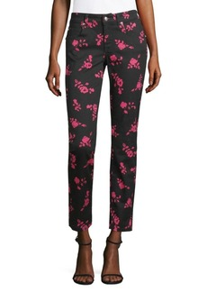 Versace Floral Ankle Jeans