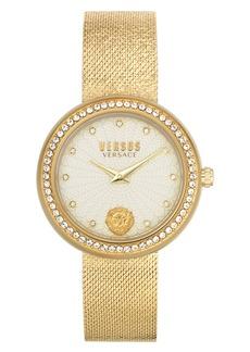 VERSUS Versace Lea Crystal Mesh Strap Watch, 35mm