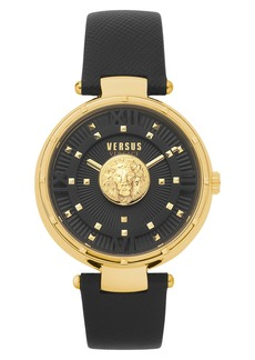 VERSUS Versace Moscova Leather Strap Watch, 38mm