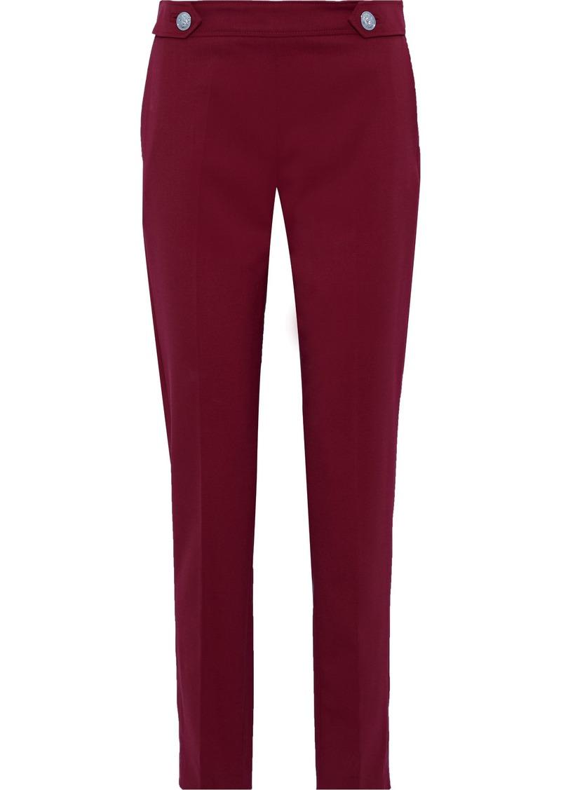 Versus Versace Woman Button-detailed Wool-blend Straight-leg Pants Brick