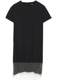 Versus Versace Woman Chainmail-embellished Crepe Mini Dress Black