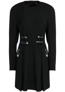 Versus Versace Woman Embellished Cutout Crepe Mini Dress Black