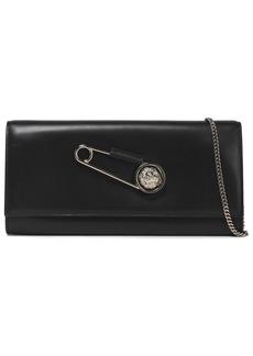 Versus Versace Woman Embellished Leather Shoulder Bag Black