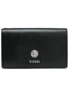 Versus Versace Woman Embellished Textured-leather Clutch Black