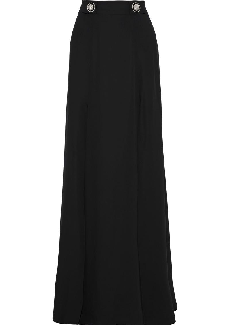 Versus Versace Woman Embellished Woven Maxi Skirt Black