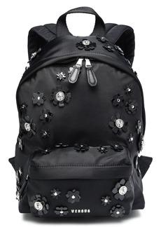 Versus Versace Woman Floral-appliquéd Shell Backpack Black