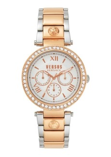 Versus Women's Camden Market Crystal Two-Tone Stainless Steel Bracelet Watch 38mm