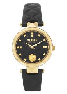 Women's Versus Versace Convent Garden Leather Strap Watch