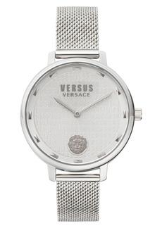 Women's Versus Versace La Villette Mesh Strap Watch