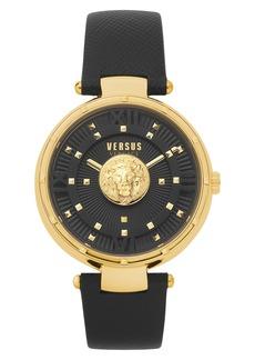Women's Versus Versace Moscova Leather Strap Watch