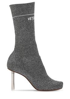 Vetements 90mm Lighter Socks Lurex Ankle Boots