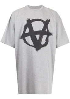 Vetements anarchy-print oversized T-shirt