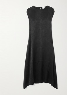 Vetements Asymmetric Satin-jacquard Dress