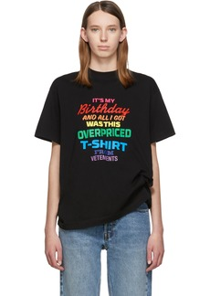 Vetements Black 'Birthday' T-Shirt