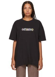 Vetements Black 'Saturday' Weekday T-Shirt