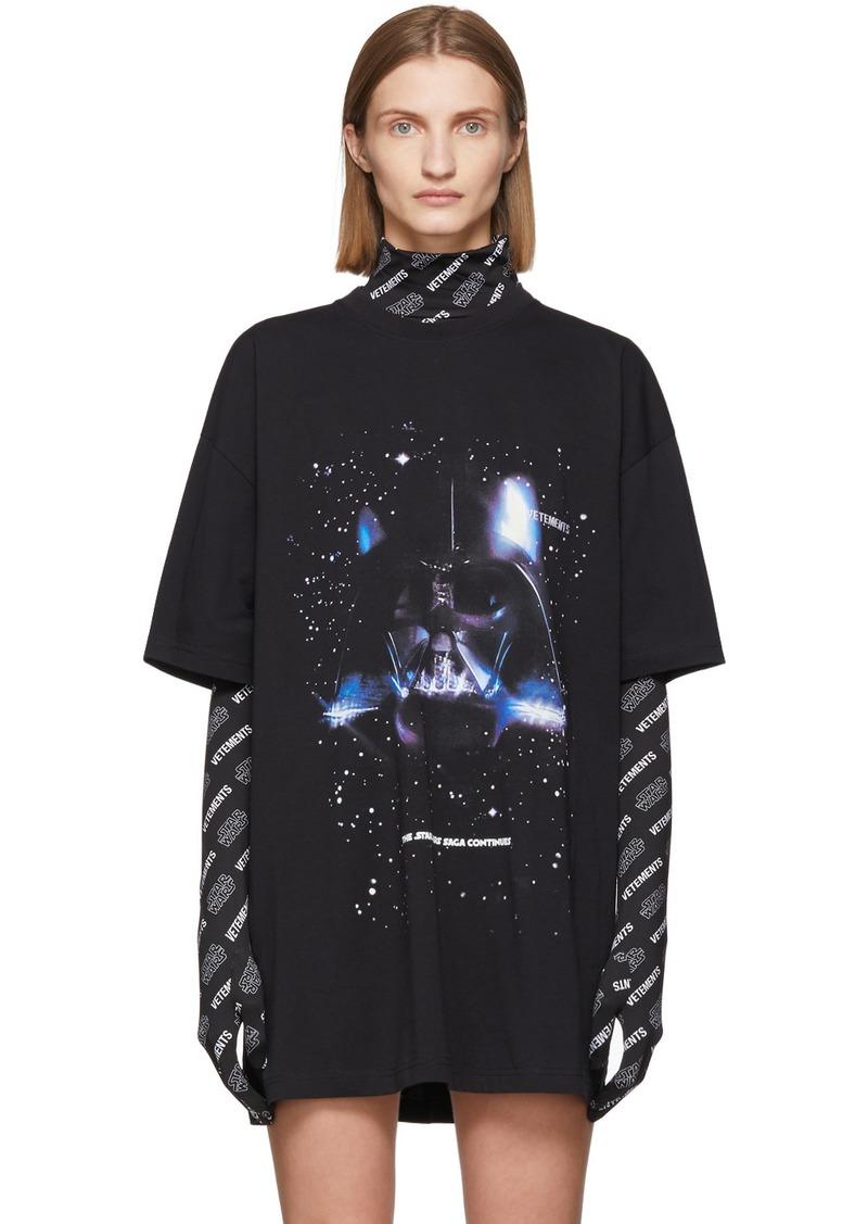 Vetements Black STAR WARS Edition Darth Vader T-Shirt