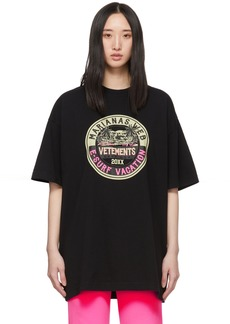 Vetements Black Surfer Logo T-Shirt