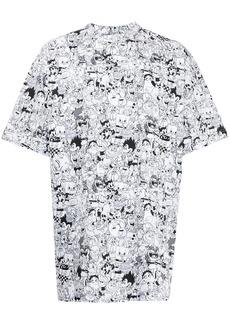 Vetements cartoon-print oversized T-shirt