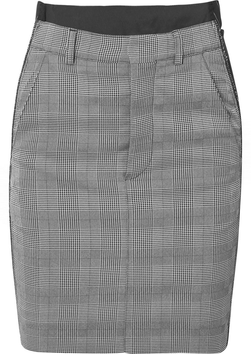 Vetements Checked Cady And Wool-blend Mini Skirt