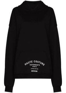 Vetements Haute Couture print hoodie