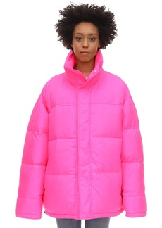 Vetements Cropped Neon Down Jacket