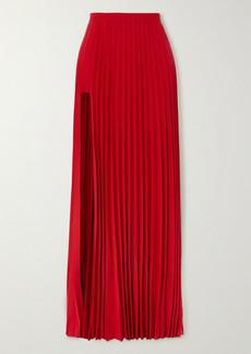 Vetements Cutout Pleated Crepe Maxi Skirt