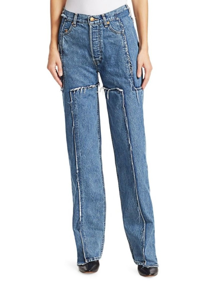 Vetements Deconstructed Frayed Jeans