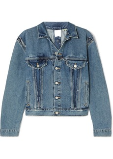 Vetements Double-sided Distressed Denim Jacket