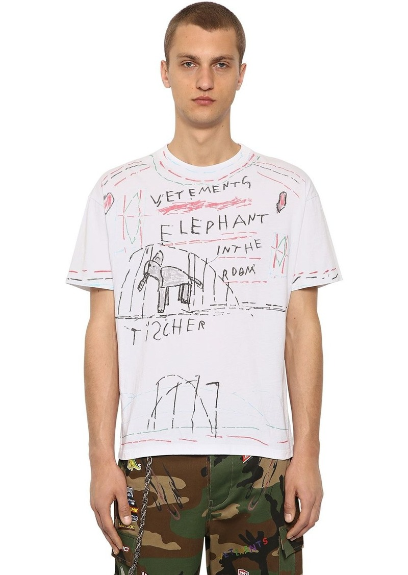 913227ce Vetements Elephant Marta Printed Jersey T-shirt | T Shirts