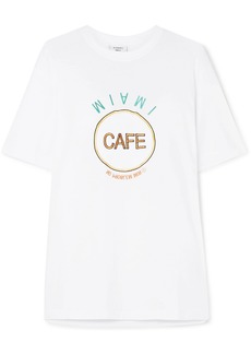 Vetements Embroidered Cotton-jersey T-shirt