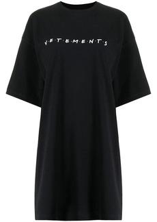 Vetements extra-long cotton logo T-shirt