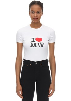 Vetements Fitted Cotton Jersey T-shirt