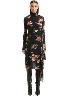 Vetements Floral Open Back Stretch Cady Dress