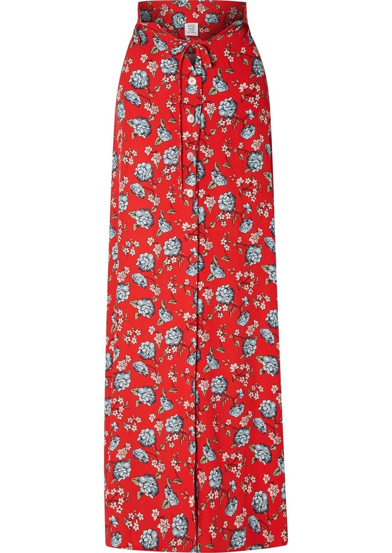 Vetements Floral-print Crepe Maxi Skirt