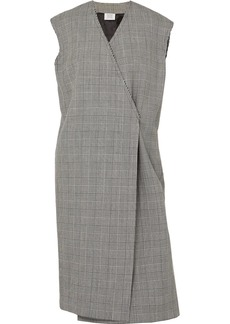 Vetements Frayed Prince Of Wales Checked Wool Vest