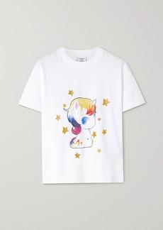 Vetements Glittered Printed Cotton-jersey T-shirt