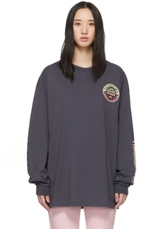 Vetements Grey Surfer Logo Long Sleeve T-Shirt