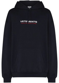 Vetements Haute Couture logo-embroidered hoodie