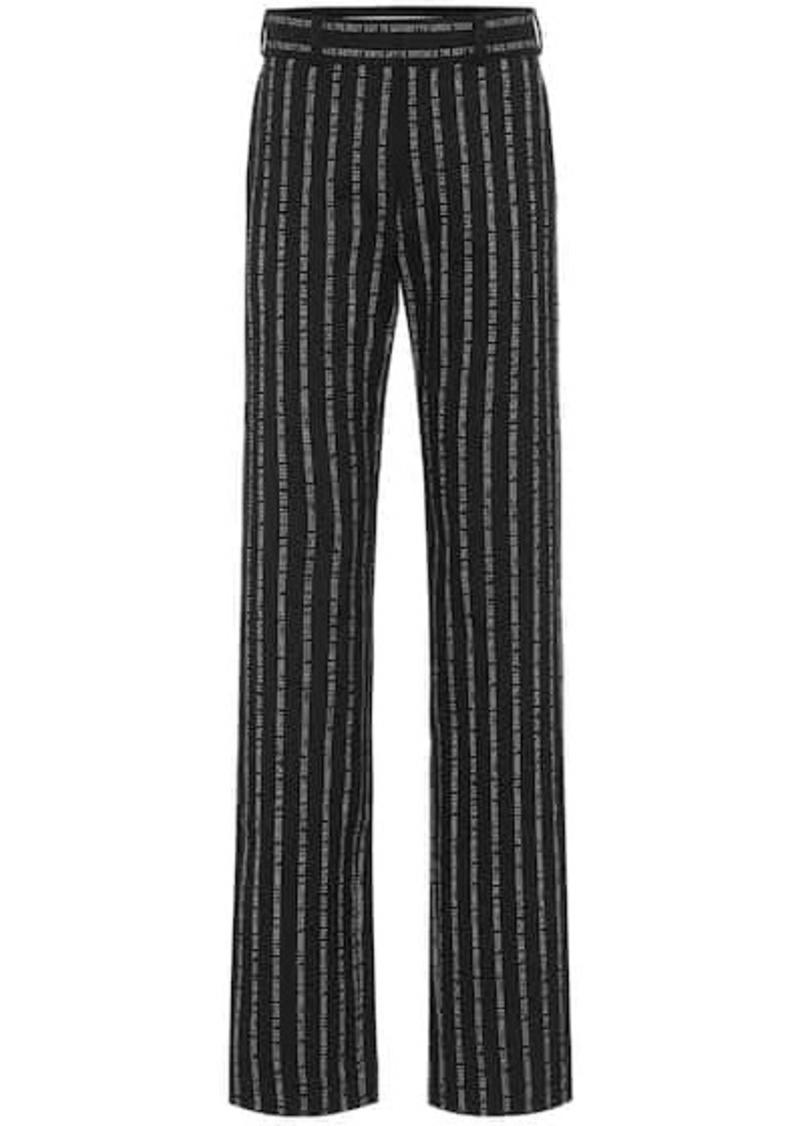 Vetements High-rise straight pants