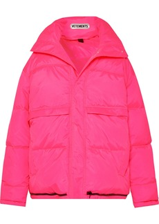 Vetements Hooded Quilted Shell Down Coat