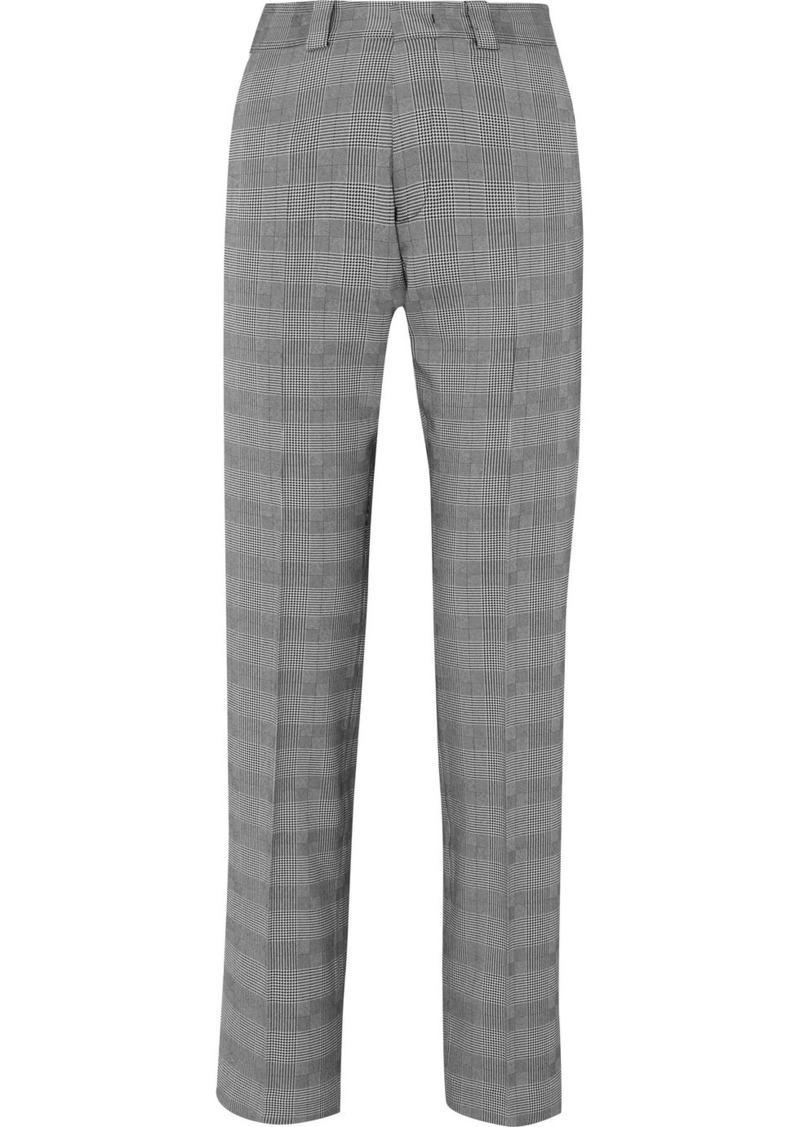 Vetements Houndstooth Wool-blend Slim-leg Pants