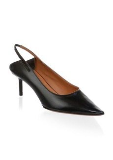 Vetements Leather Pointed Toe Slingback Pumps