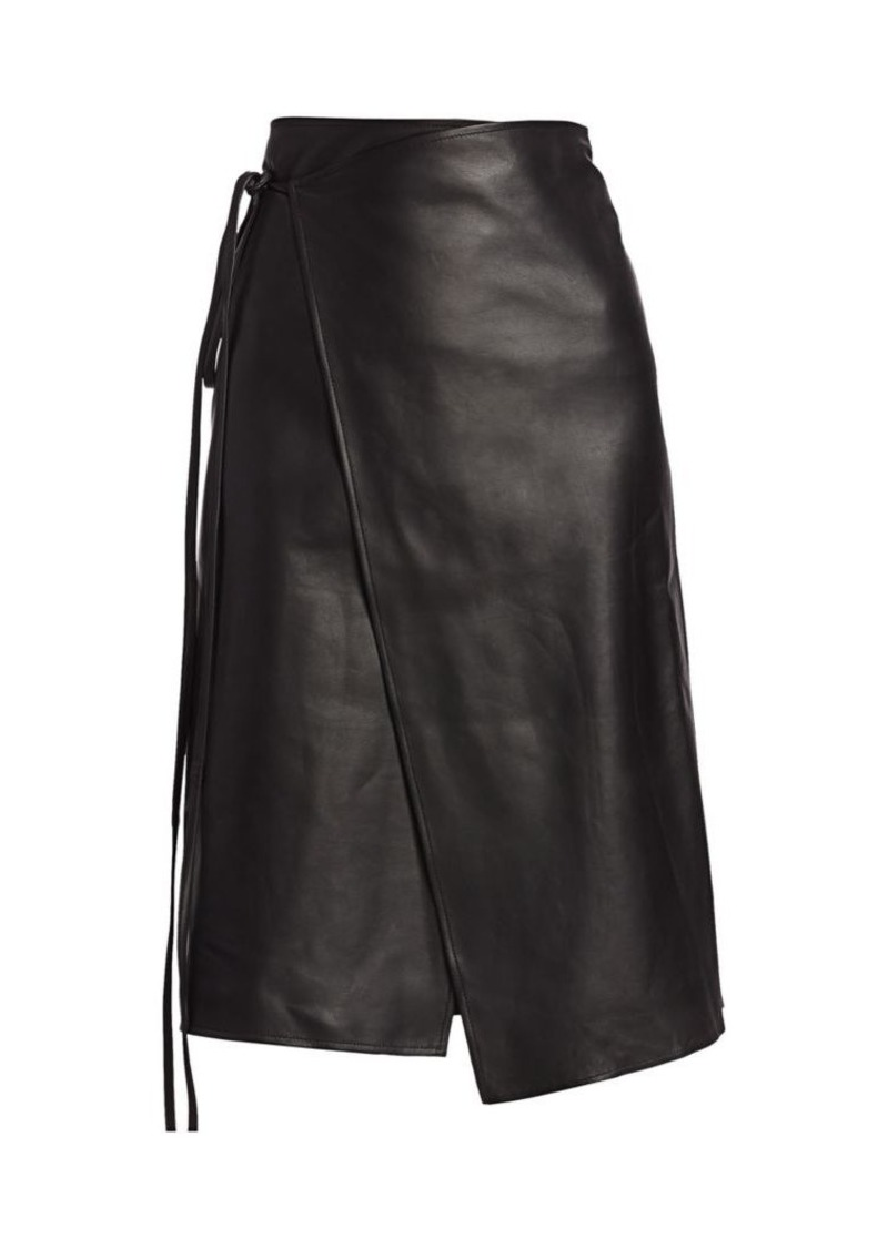 Vetements Leather Wrap Skirt