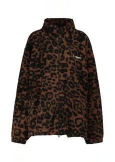 Vetements Leopard-print fleece jacket