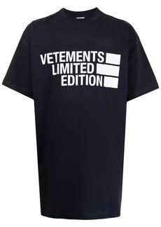 Vetements Limited Edition logo print T-shirt