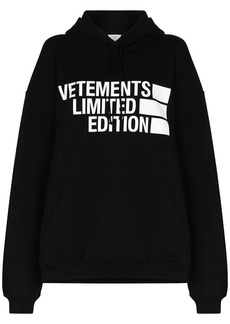 Vetements Limited Edition print hoodie
