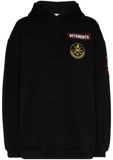 Vetements logo appliqué embroidered hoodie