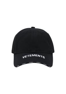 Vetements Logo Cotton Cap