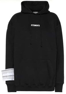 Vetements Logo cotton-jersey hoodie