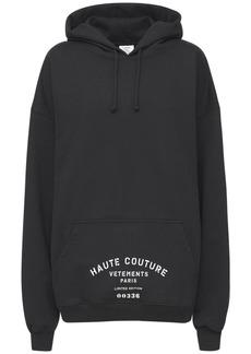 Vetements Logo Cotton Jersey Sweatshirt Hoodie